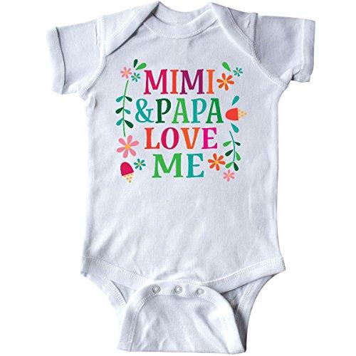 inktastic - Mimi and Papa Love Me Infant Creeper Newborn White 30133 -