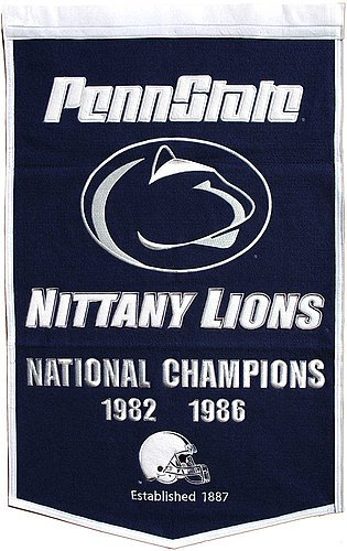 Penn State Nittany Lions Dynasty Banner - NCAA Licensed - Penn State Nittany Lions Collectibles