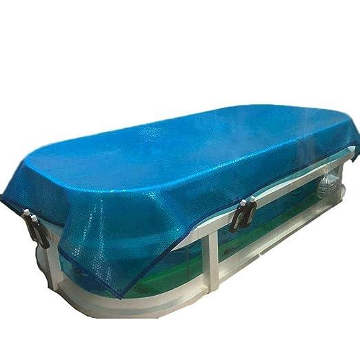 H-WXH Azul Solar Piscina Cubierta for Piscinas, Rectángulo ...