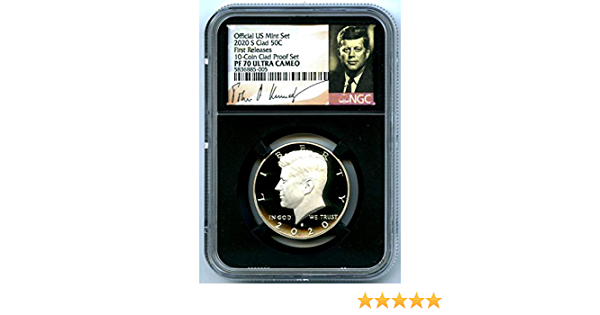 2020 S Proof Kennedy Half Dollar 50c NGC PF70 UCAM First Releases Blue Label