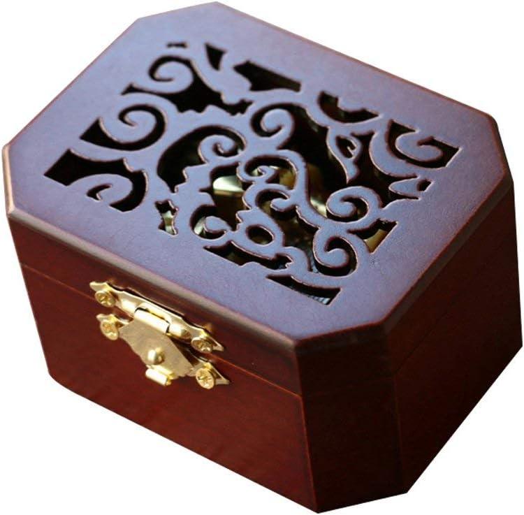 TM Tune: Lilium von Elfen Lied Color : Tune:Lilium from Elfen Lied, Size : - Zhaoyun Musikspielzeug Kreative Hohle Abdeckung aus Holz 18-Note Wind-up Musical Box