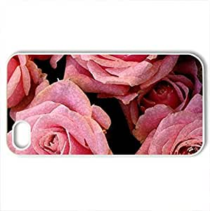 Pink RosCase For Sumsung Galaxy S4 I9500 Cover (Flowers Series, Watercolor style, White)