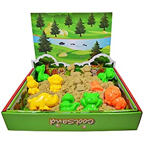 CoolSand 3D Sandbox - Kinetic Play Sand For All Ages - Safari Edition