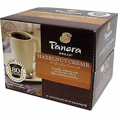 Panera Bread Hazelnut Creme Coffee K Cup  80 Count