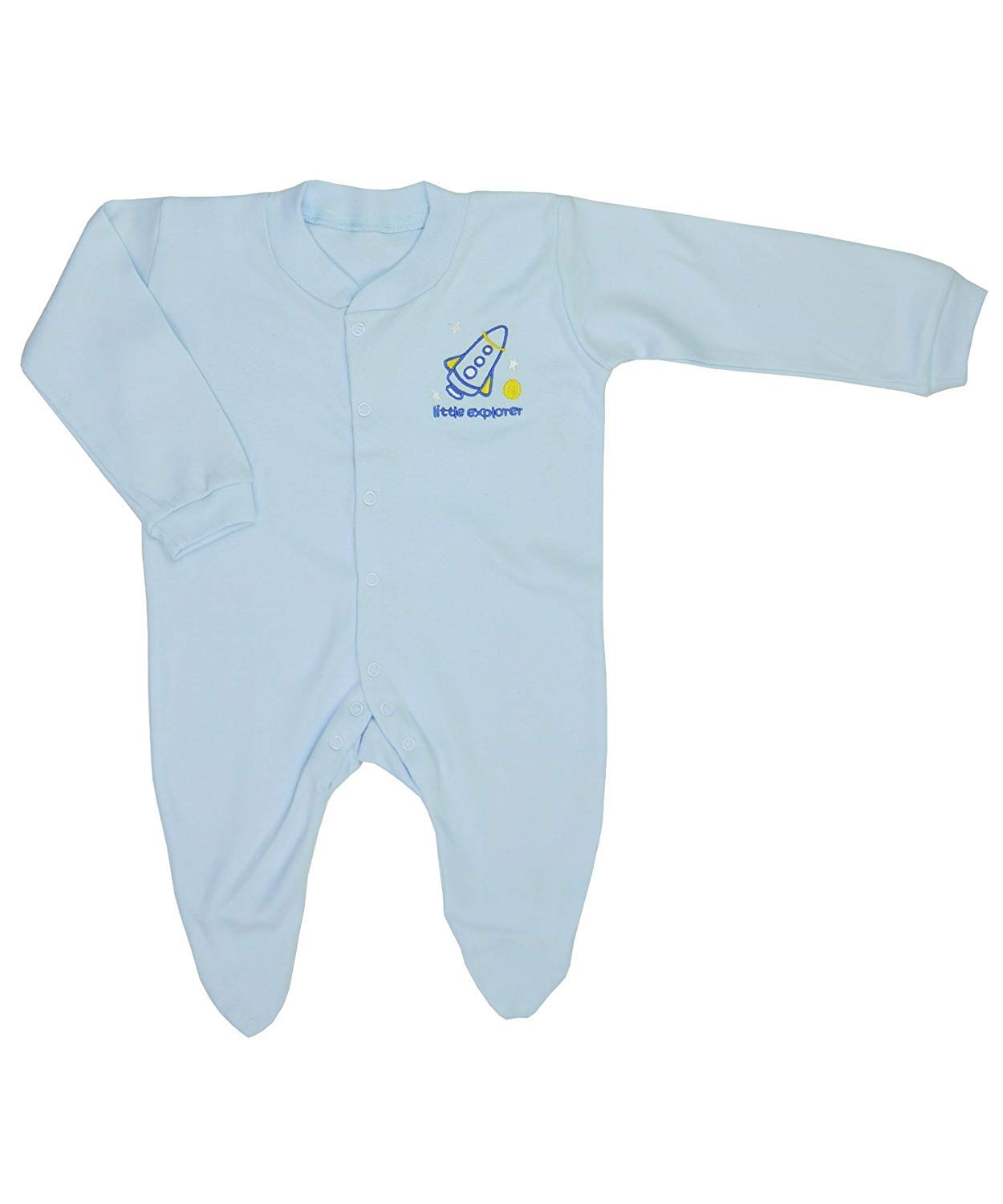 12-18 Months 2 Pack Boys Girls Baby Shower Blue Baby Grow Cute Design 100/% Cotton Nursery Time Baby Sleepsuits