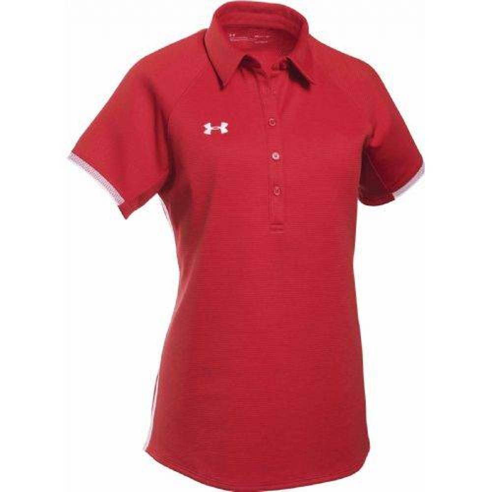 Under Armour Women's UA Rival Polo (Medium, Red) by Under Armour