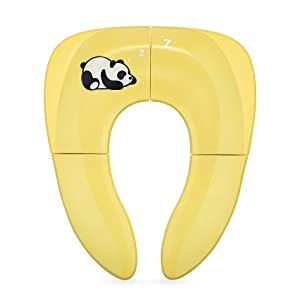 Jerrybox Réducteur de Toilette, pour Enfant et Bébé, Pliable, Porte à Voyage, Tout-Petit Pot, Un Sac de Rangement Bonus ( Jaune )