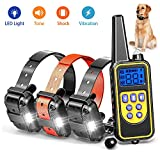 igingko [New 2018] Remote Dog Training Collar 2600ft, 100% Waterproof and Rechargeable Shock Collar with 4 Modes: LED Light/Beep/Vibration/Shock,Electric E-Collar for Small,Medium, Large Dogs For Sale