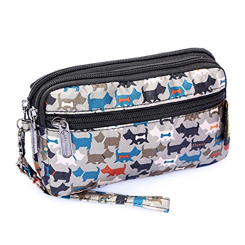 Kawaii Travel Wristlet Wallet for Women - Purse and Clutch for Cell Phone Cosmetics and Pencils (Credit Card Machine Attached To Cell Phone)