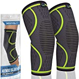 Modvel Knee Compression Sleeve | FDA Approved Knee Brace | Knee Support for Arthritis, ACL, Meniscus Tear, Running, Biking, and Sports | Joint Pain Relief, Promotes Faster Injury Recovery