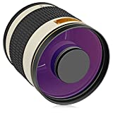 Opteka 500mm f/6.3 (with 2X- 1000mm) Telephoto Mirror Lens for Sony a9, a7R, a7S, a7, a6500, a6300, a6000, a5100, a5000, a3000, NEX-7, NEX-6, NEX-5T, NEX-5N, 5R, 3N and Other E-Mount Digital Cameras