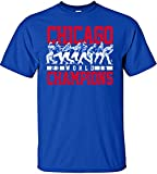 MLB Chicago Cubs 2016 World Series Champions Team Lineup Design T-Shirt, Large, Royal
