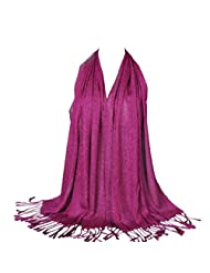 Susenstone Fashion Women Long Soft Cotton Scarf Wrap Ladies Shawl Large Scarves (Hot Pink)