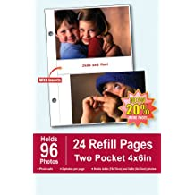 Pinnacle Burnes of Boston Photo Album Refill Pages, 4 by 6-Inch