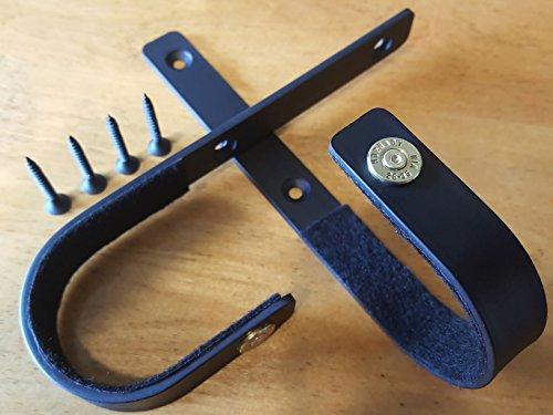 .25-35 WIN - Gun Rack Shotgun Hooks Rifle Hangers Gun Hooks, Wall Mount Gun Safe Storage (25-35 Brass Edition) Heavy Duty (1 Pair) VERDICT BRACKETS, Black, Mounting Screws & Instructions Included