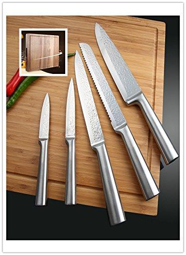 Auralum® 5PCS cuchillos de SS430 acero inoxidable La lámina ...