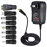[Upgraded Version] - SoulBay 30W Universal AC/DC Charger Adapter Switching Power Supply with 7 Selectable Adapter Tips & Micro USB Plug, Suitable for 3V to 12V Household Electronics and LED Strip