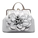 SUNROLAN Women's Evening Clutches Handbags Formal Party Wallets Wedding Purses Wristlets Ethnic Totes Satchel (White)
