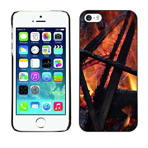 Hülle Case Schutzhülle Cover Premium Case // F00000053 Feuer // Apple iPhone 5 5S 5G