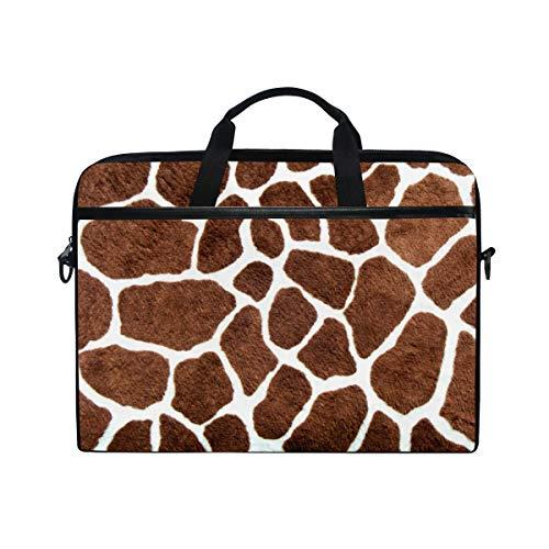 TropicalLife Laptop Bag Animal Giraffe Leopard Print Lightweight Briefcase Shoulder Messenger Bag Laptop Case Sleeve for 11.6-15 inch MacBook Pro, MacBook Air Laptop and Tablet