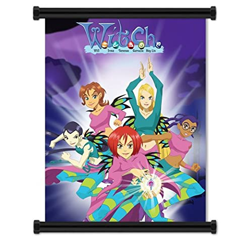 W.I.T.C.H Cartoon: Group Fabric Wall Scroll Poster (32 x 42 inches) (The Winx C)