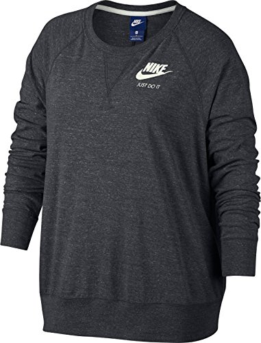 Nike W NSW Gym VNTG Crew Ext Sudadera, Mujer, Anthracite/Sail, 1X