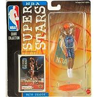 1998 - Mattel - Colección de la NBA - Serie Super Stars de la NBA - Charles Barkely # 4 - Houston Rockets - Figura de acción vintage - W /Upper Deck Trading Card - Edición limitada - Coleccionable