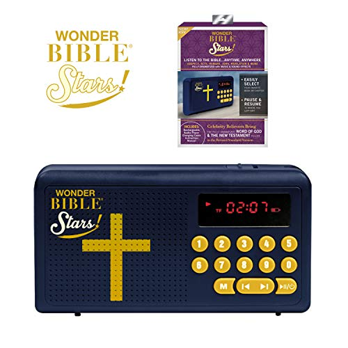 Wonder Bible Stars RSV- The Audio Bible Player That Speaks, Dramatized, with Music, Sound Effects, and Celebrity Believers as The Voices- Revised Standard Version, As Seen on TV