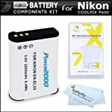 Battery Kit For Nikon COOLPIX B700, P900, P610, P600 Wi-Fi Digital Camera Digital Camera Includes Extended Replacement (2200Mah) EN-EL23 Battery + LCD Screen Protectors + MicroFiber Cleaning Cloth