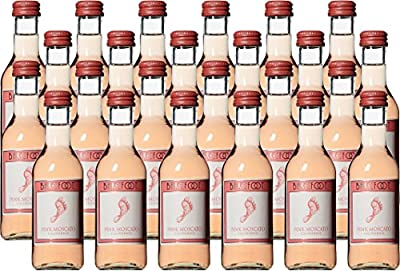 Barefoot Cellars California Pink Moscato Wine 24 x 187 mL from Barefoot Wine & Bubbly