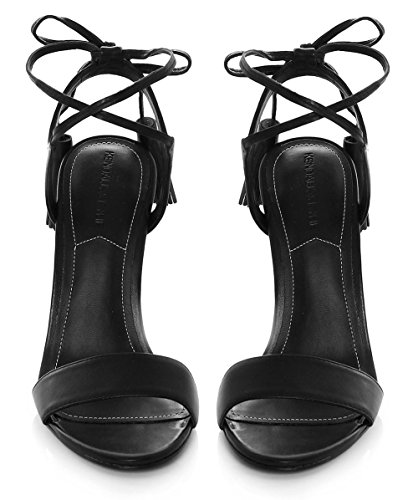 Kendall and Kylie Mujeres sandalias de borla de tobillo de Ellery Negro Negro