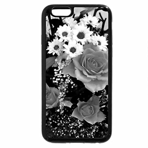 iPhone 6S Case, iPhone 6 Case (Black & White) - Flower series#3 -roses and lilies
