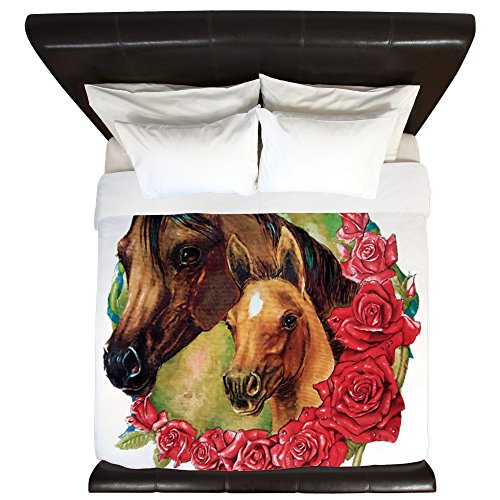 King Duvet Cover Horses and Roses by Royal Lion