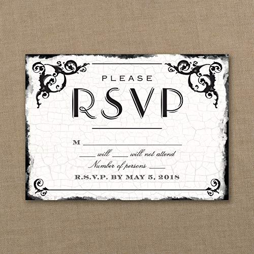 250pk Antique Filigree Frame - Response Card and Envelope-RSVP - 250 Envelopes Antique