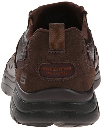 Slip Loafer Glides Men's Razan USA On Skechers Chocolate 6fSIFx