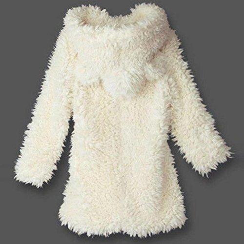 Blanc Vintage Hiver Long Fourrure Sweat Chaud En Pas Mi À Casual Automne Capuche Manteau Cape Noir Mode Femme Blouson Longra Épais Cher Chic OC5wxvBx