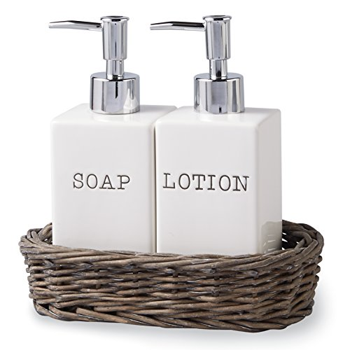 Mud Pie Soap and Lotion Set in Willow (Lotion Dispenser)