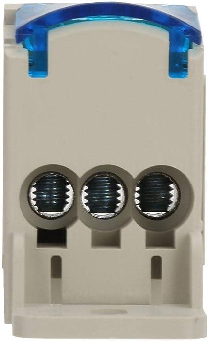 Borniers de rail DIN de connecteur de bo/îte de distribution de puissance rail monophas/é /à 4 niveaux de bo/îte de distribution de bornier 411 pour le g/énie /électrique