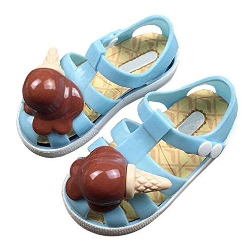 Meijunter Sommer Mädchen Jungen Säugling Eis Lässige Anti-Rutsch Weich Gelee Flache Schuhe Kleinkind Kinder Strand Sandalen Regen Stiefel Blau