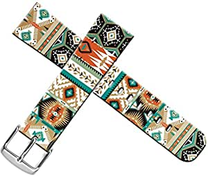 Iwatch Bands 38mm Sport,Apple Watch Strap 38mm Leather Replacement Women Men Sport Pattern Series 1 Series 2 Series 3 Colorful Tribal Ethnic Printing