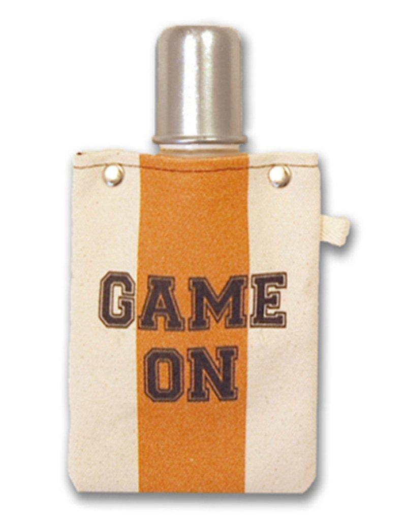 Totableキャンバスフラスコ、ショットグラス、120 ml (4oz) ボリューム – Game On、オレンジ/ブラック   B07CYM132N
