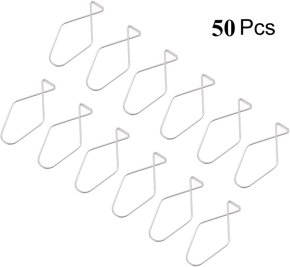 Home and Wedding Decoration 100 Pack Ceiling Hook Clips T-bar Squeeze Hangers Clips Drop Ceiling Clips for Office Classroom Hanging Sign from Suspended Tile//Grid//Drop Ceilings