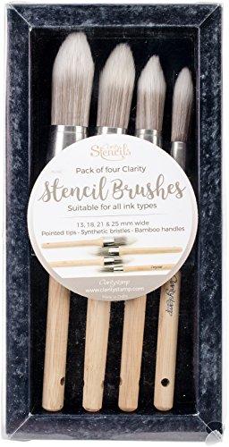 Ecstasy Crafts ACCBR30006 Clarity Stencil Brushes 4/Pkg