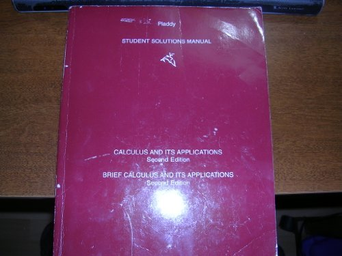 Calculus and Its Applications/Brief Calculus and Its Applications: Student Solutions Manual