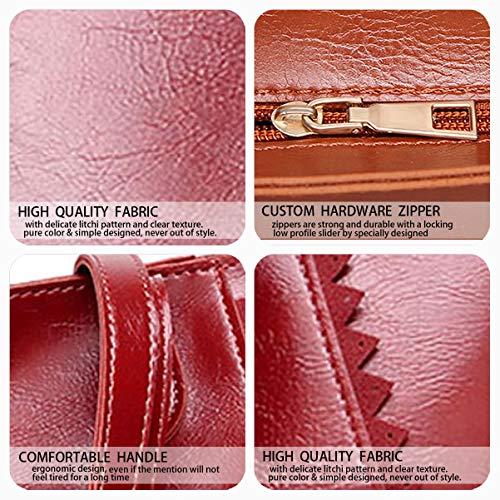 bandolera bolsos clutches y Mujer de Carteras Bolsos y Burdeos mano hombro Shoppers de 6q4Yw