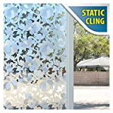 BDF 1PFLW Window Film Non-adhesive Frosted Privacy Flower Static Cling
