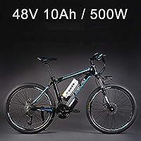 """26 """"vélo électrique d'alliage d'aluminium de batterie au lithium 48V 500W, vélo électrique de 27 vitesses, VTT / vélo de montagne, adoptent des freins à disque d'huile"""