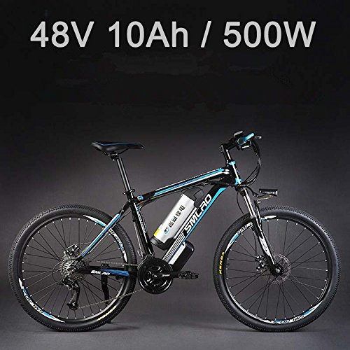 26' 48V Lithium Battery Aluminum Alloy Electric Assisted Bicycle, 27 Speed...