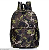 Galaxy Backpack / Back-to-School / New Hot Sale Unisex Canvas School Bag Travel Bag Shoulders Bag / Green Camouflage