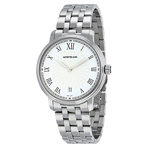 7a4703efd Montblanc Tradition Date White Guilloche Dial Stainless Steel Mens Watch  112636: Amazon.ca: Watches